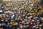 Small typical german small city of bonames in birds view — Stok fotoğraf