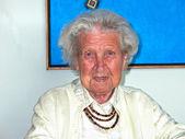 Portrait of cute grand grandmother — Stock Photo
