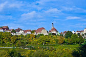 Rothenburg ob der Tauber, old famous city from medieval times seen from the — Stock Photo