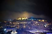 Lisbon, view to castle Castel Sao Jorge by night — Stock Photo