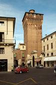 Torre di Castello in Vicenca, old historic fortress building , — Stock Photo
