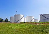 Big white industrial tank — Stock Photo