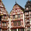 Frame house from the medieval times in romantic Trittenheim - Stock Photo