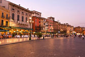 Piazza Bra at the Opera di Verona — Stock Photo