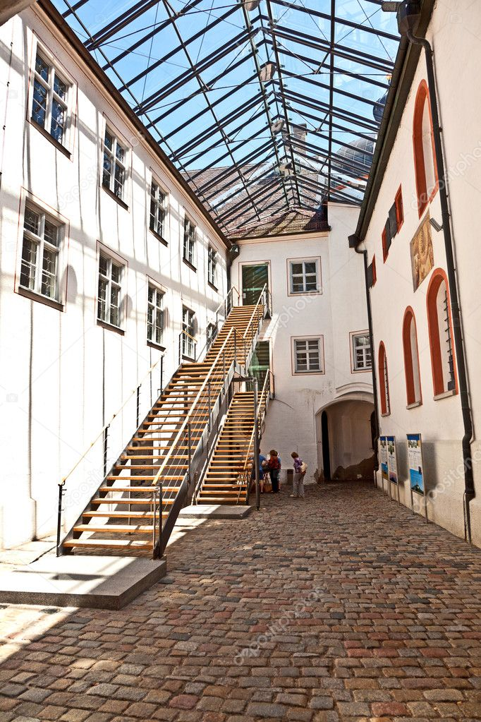 Modern part of famous cloister of Andechs with brewery in Bavaria — Stock Photo #6105750