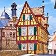 Scenic historic houses in Marktbreit - Stock Photo