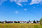 Housing area in rural landscape — Stock Photo