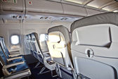 Inside the cabin of an aircraft — Stock Photo