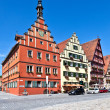 Famous old romantic medieval town of Dinkelsbuehl in Bavaria, Ge — Foto de Stock