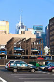 Parking lot downtown New York — Stock Photo