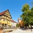 Stock Photo: Historic half-timbered house in romantic medieval town of Dinkel