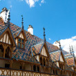 Famous hospice in Beaune, France - Foto Stock
