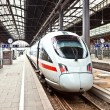 High speed train in station ready to depart — Stock Photo