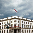 Parliament (Landtag) of Hesse in Wiesbaden, Germany in dark clou — Stock Photo
