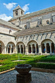 Cloister of Senanque Abbey, Vaucluse, Gordes, Provence, France — Stock Photo