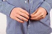 Erkek gömleği kapanış — Stok fotoğraf