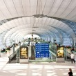 Departure Gate and hall in the new Airport Suvarnabhumi in Bangk — Stock Photo