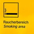 Sign smoking area — Stock Photo