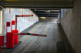 Barrier in a car park — Stock Photo