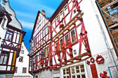 Half timberred old houses in Limburg — Stock Photo