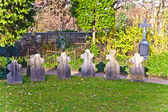 Graveyards in the garden of dome in Limburg, Germany — Stock Photo