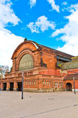 Classicistic train station in Wiesbaden — Stock Photo