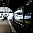 High speed train in station in Wintertime - 