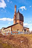 Historic watertower build of bricks — Stock Photo