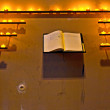Stock Photo: Wishes are written down in book at chapel