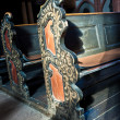 Stock Photo: Old wooden historic benches in cathedral of Wetzlar
