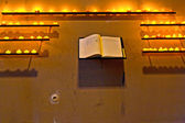 Wishes are written down in the book at the chapel — Foto de Stock