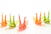 Origami birds — Stock Photo