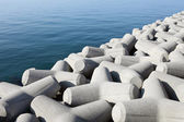 Breakwater with concrete blocks — Стоковое фото