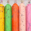 Old crayons — Stock Photo