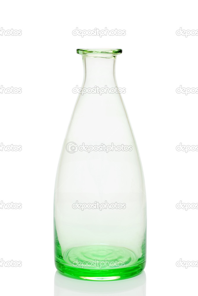 Old glass bottle isolated on white background  Stock Photo #5511980