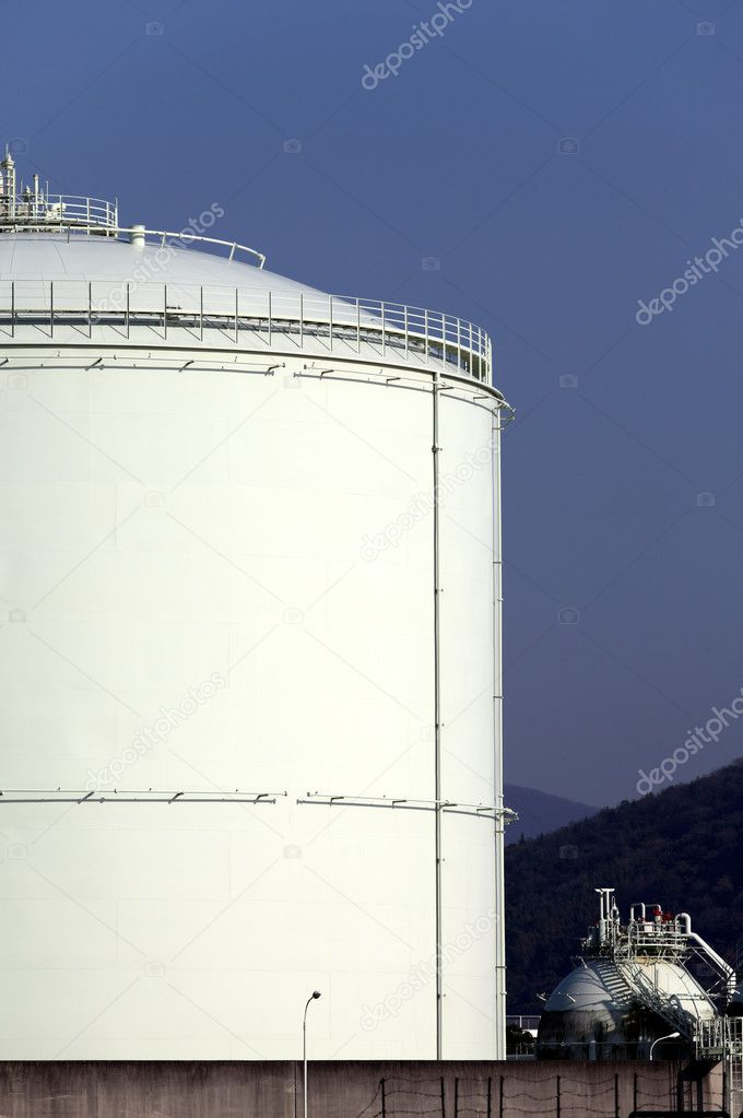 Storage tank with a blue sky background  Stock Photo #5520714
