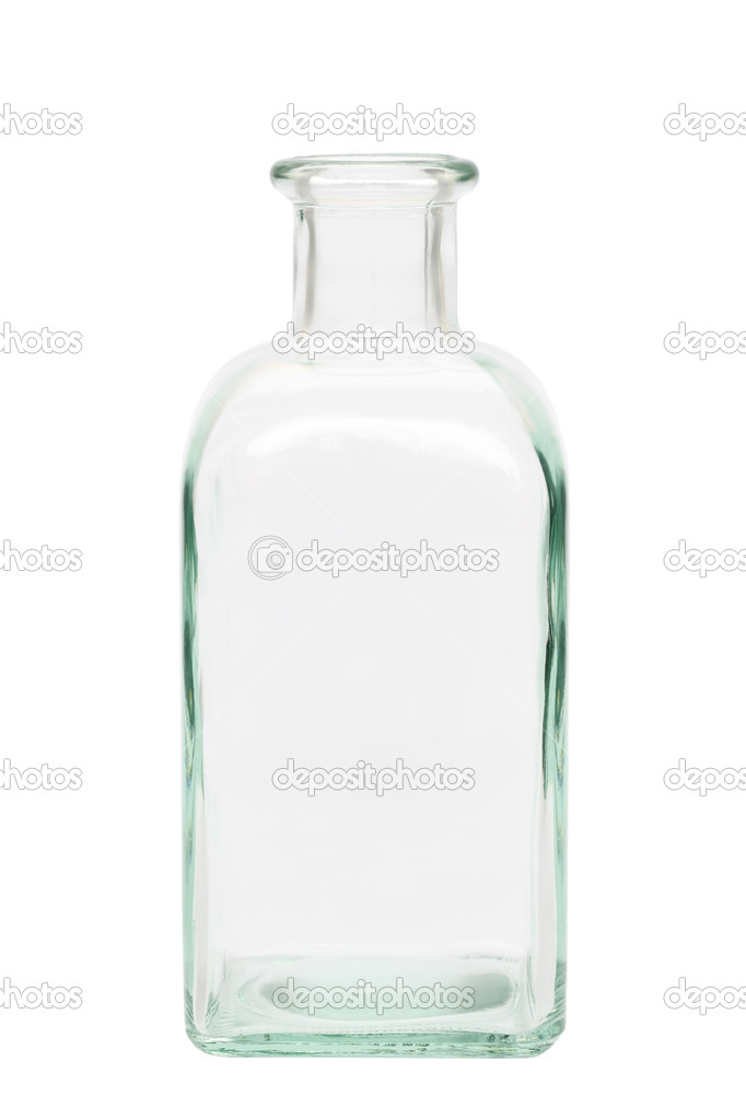 Glass bottle isolated on white background — Stock Photo #5667025