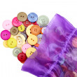 Buttons and bag — Stock Photo #5673102