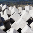 Stock fotografie: Breakwater with concrete blocks