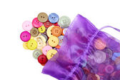 Buttons and bag — Stock Photo