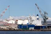 Shipyard in dry dock — Stock Photo