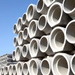 Stacked concrete pipes — Stock Photo #5826014