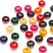 Colorful wooden beads - Stock Photo