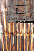 Corrugated iron — Stockfoto