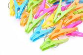 プラスチック製の clothsepins — ストック写真