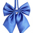Blue bow tie for women - Stock Photo