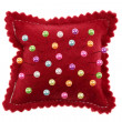 Sewing pins and pin cushion - Stock Photo