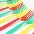 Stock Photo: Colorful forks