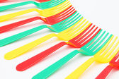 Colorful forks — Stock fotografie