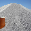 Stock Photo: Gravel gray mound quarry